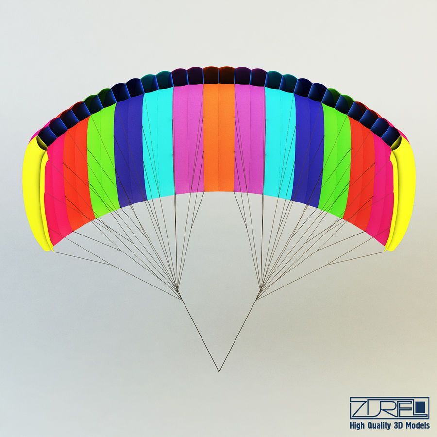 Paraglider v 1 royalty-free 3d model - Preview no. 6
