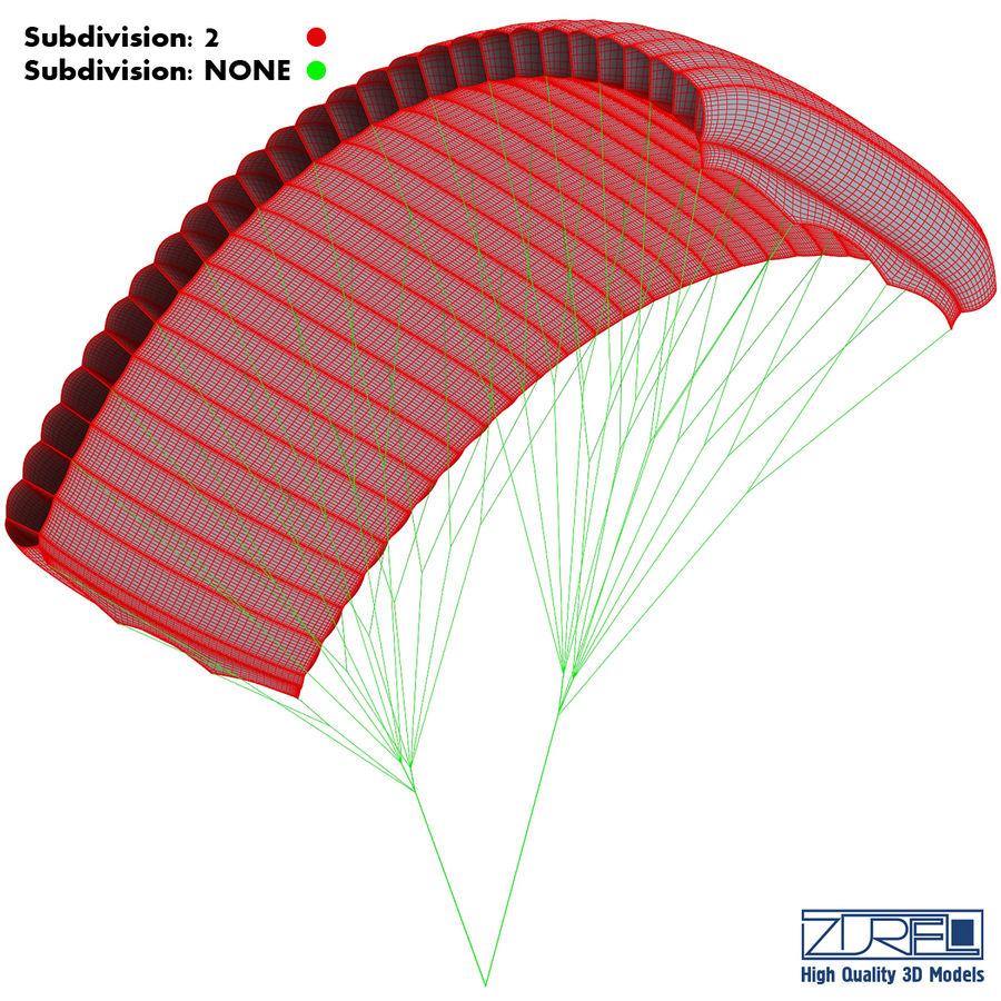 Paraglider v 1 royalty-free 3d model - Preview no. 20