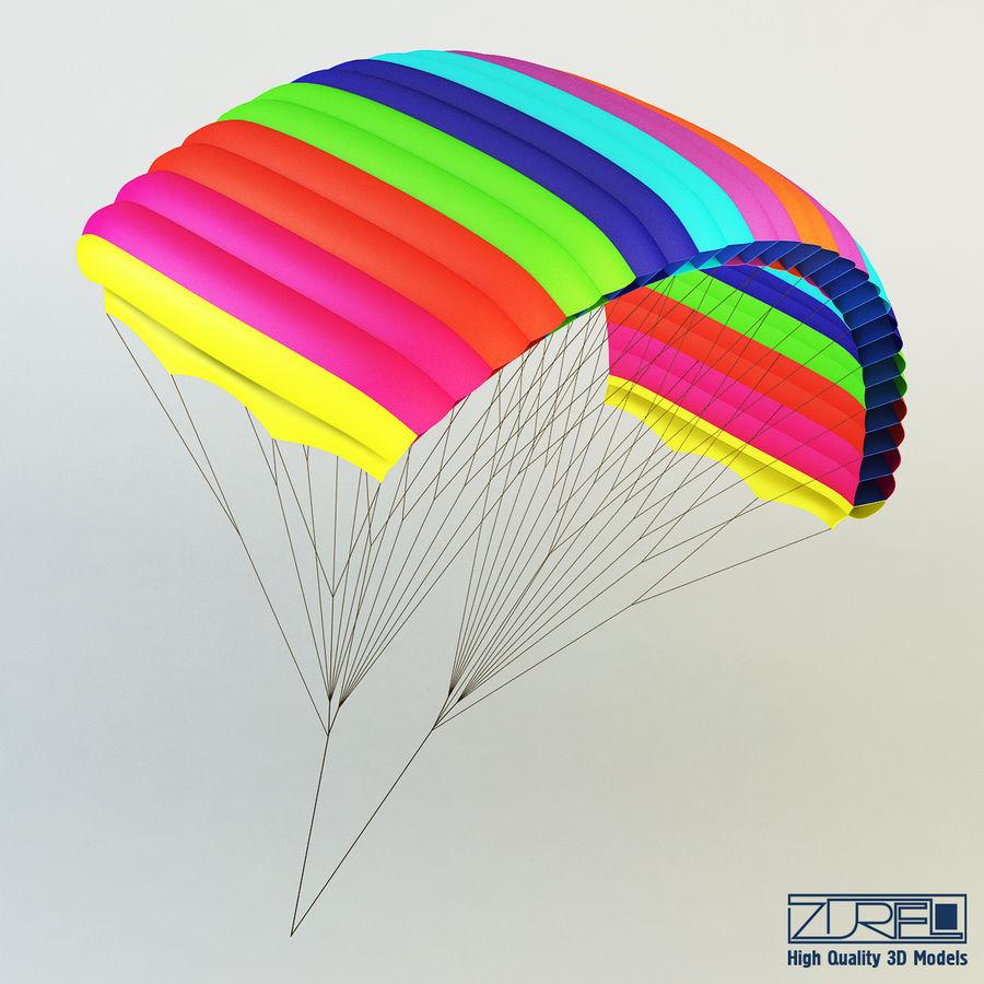 Paraglider v 1 royalty-free 3d model - Preview no. 3