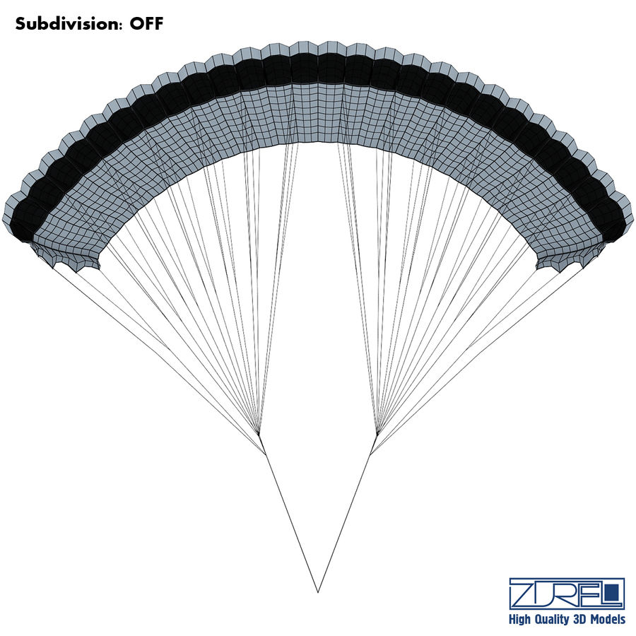 Paraglider v 1 royalty-free 3d model - Preview no. 11