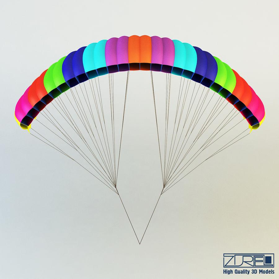 Paraglider v 1 royalty-free 3d model - Preview no. 4
