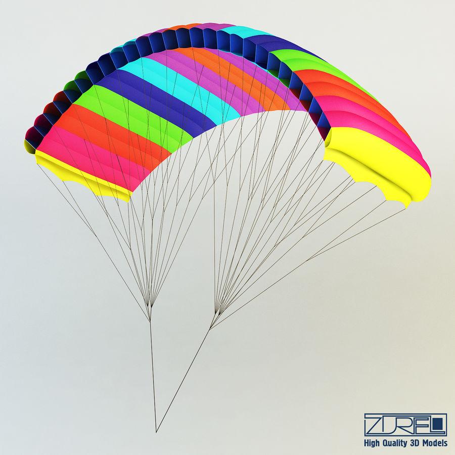 Paraglider v 1 royalty-free 3d model - Preview no. 2