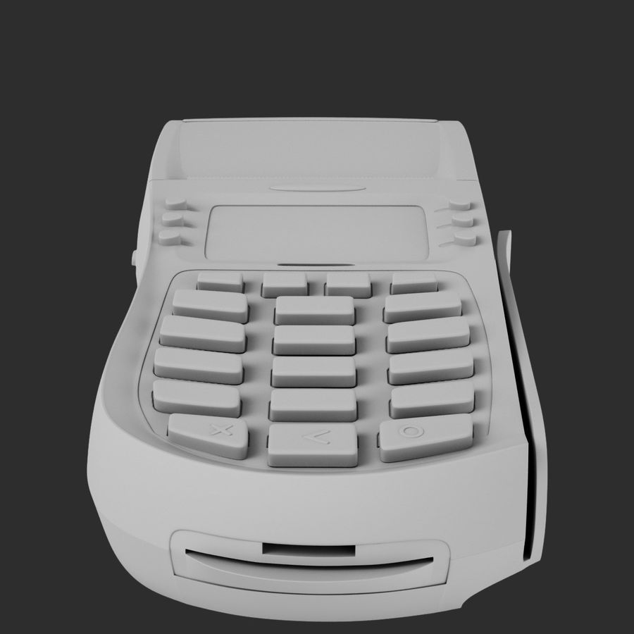 Terminale POS HYPERCOM OPTIMUM T4210 royalty-free 3d model - Preview no. 13