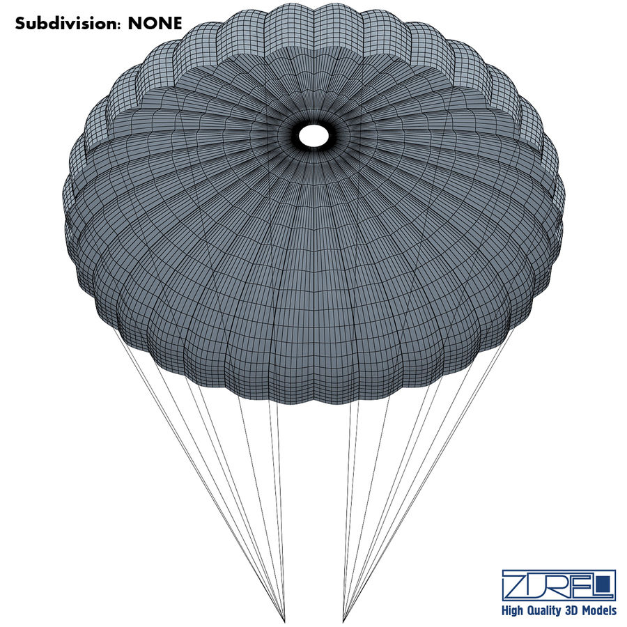 Parachute royalty-free 3d model - Preview no. 7