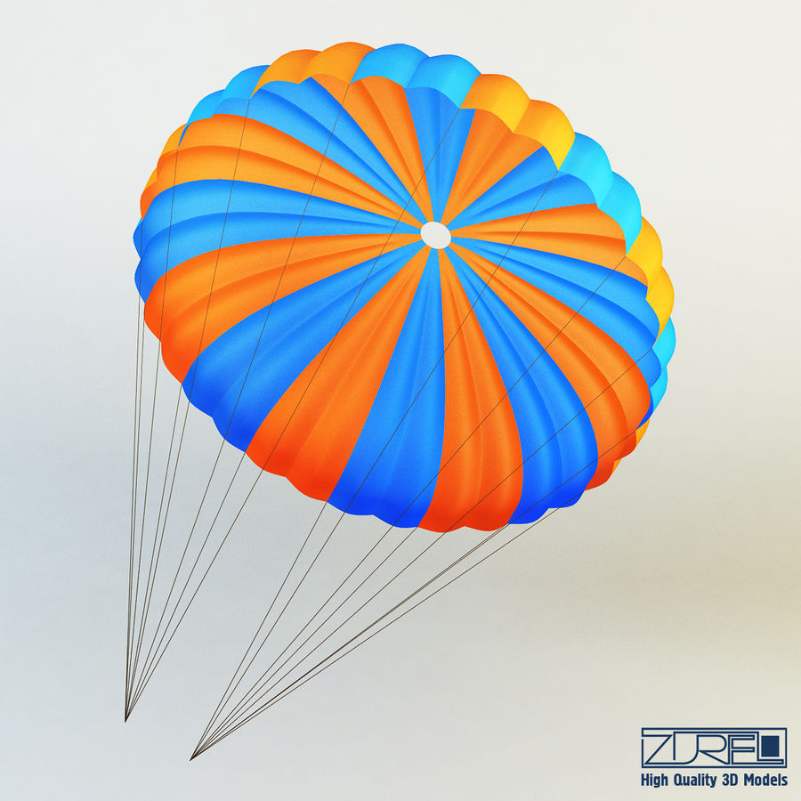Parachute royalty-free 3d model - Preview no. 1