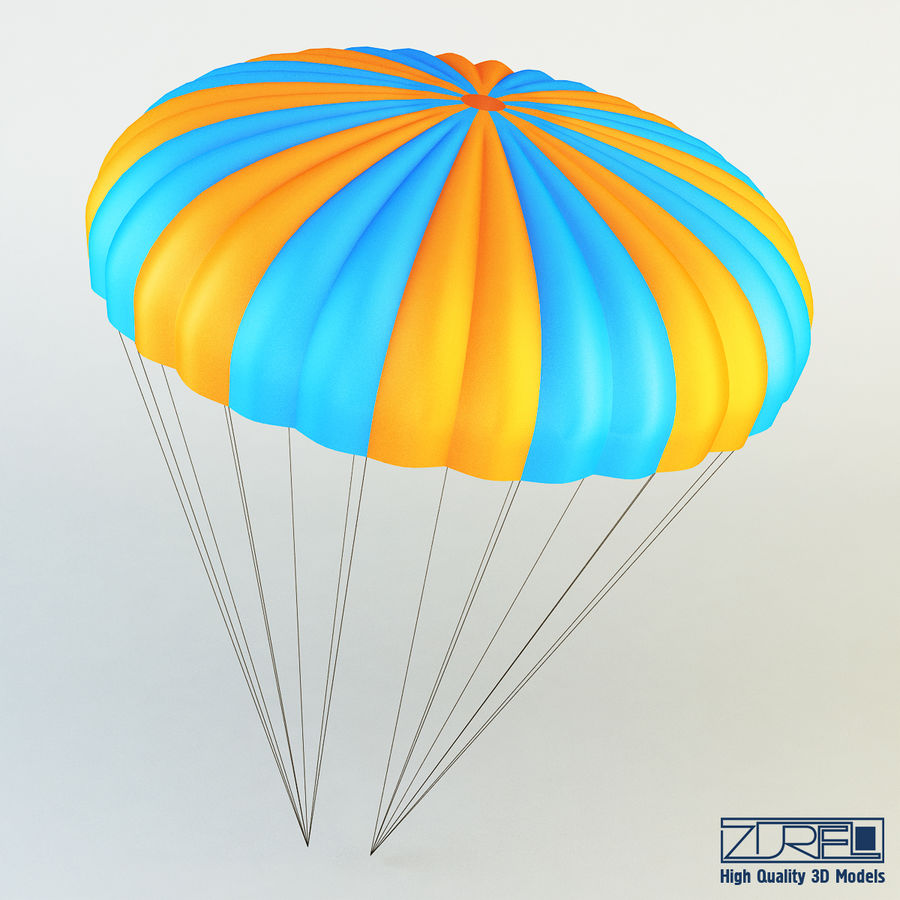 Parachute royalty-free 3d model - Preview no. 2