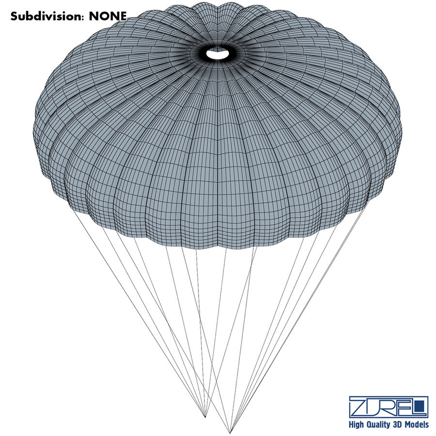 Parachute royalty-free 3d model - Preview no. 6