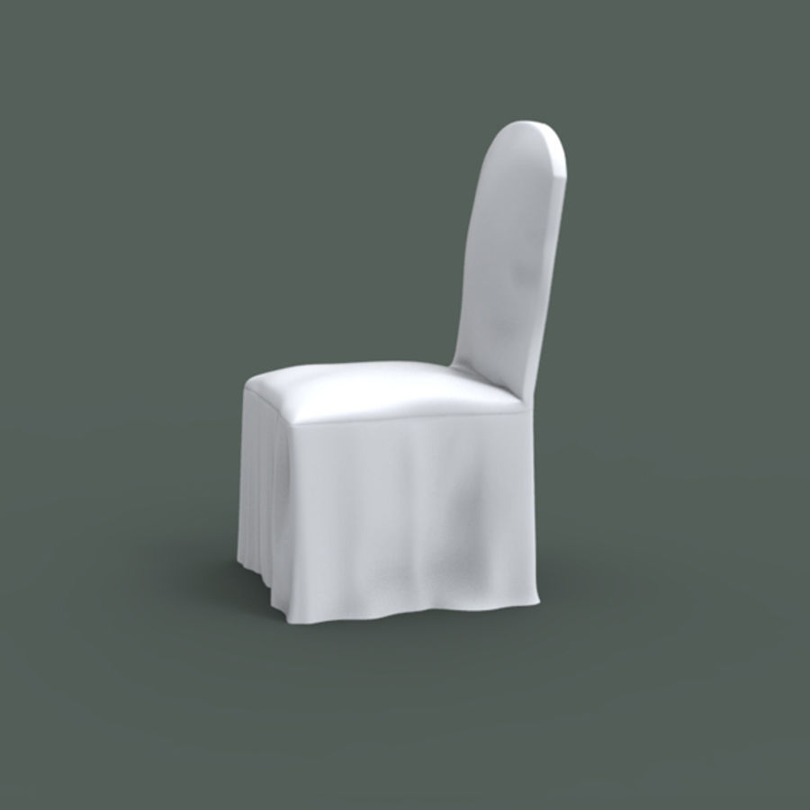 White Banquet Chair 3d Model 16 Obj Max Ma Fbx Free3d
