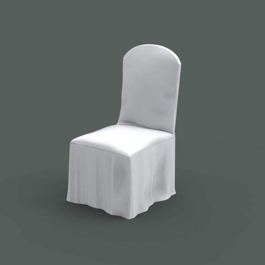 White Banquet Chair 3d Model 16 Obj Max Ma Fbx Free3d