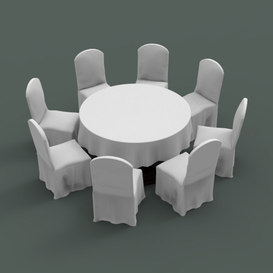 Bankettbord och stol royalty-free 3d model - Preview no. 1