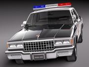 Chevrolet Caprice Sheriff 1978 polisbil 3d model