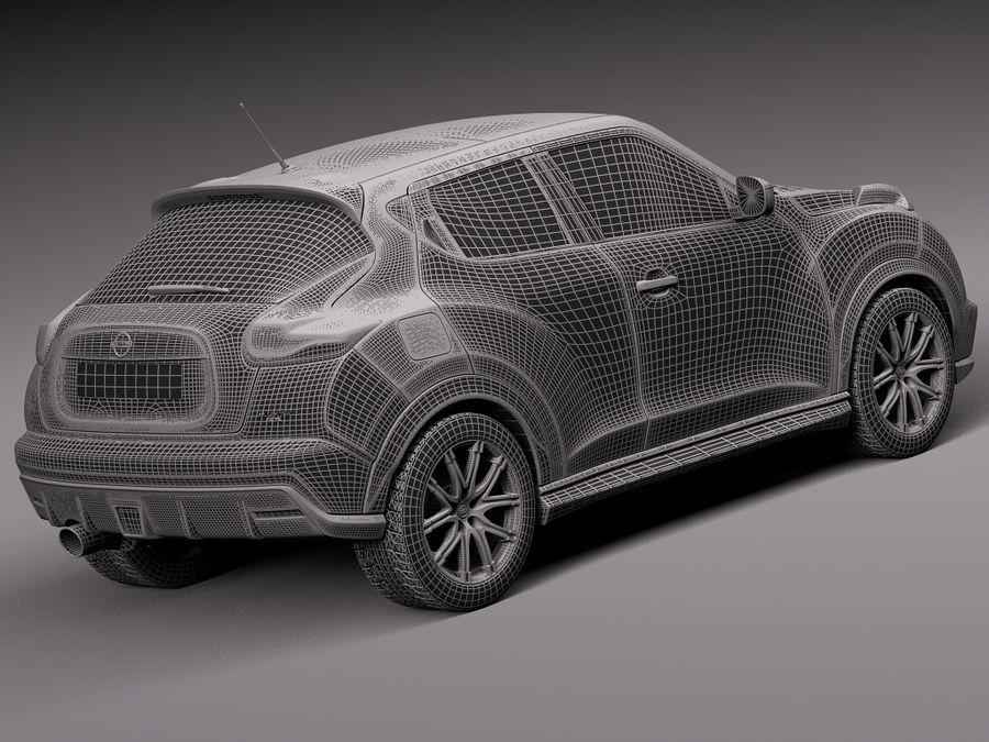 Nissan Juke Nismo RS 2015 royalty-free 3d model - Preview no. 15