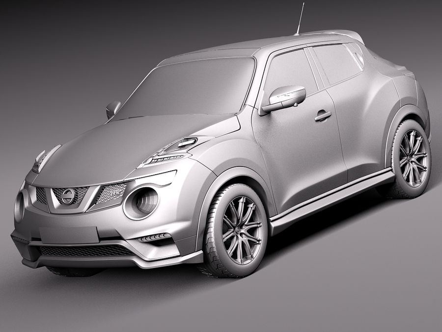 Nissan Juke Nismo RS 2015 royalty-free 3d model - Preview no. 10