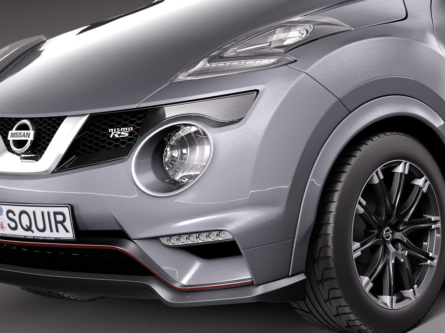 Nissan Juke Nismo RS 2015 royalty-free 3d model - Preview no. 3