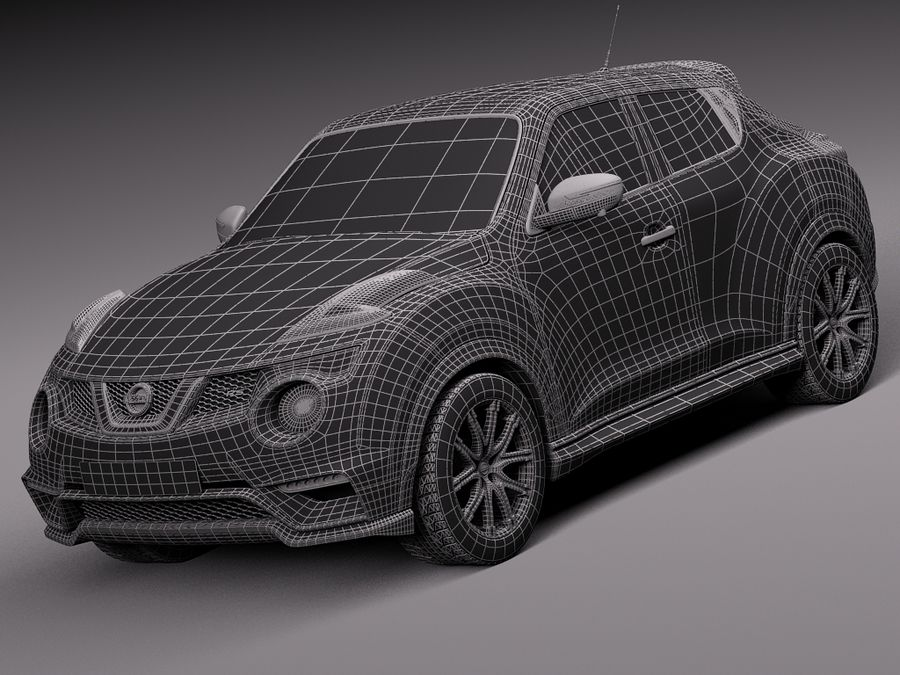 Nissan Juke Nismo RS 2015 royalty-free 3d model - Preview no. 16
