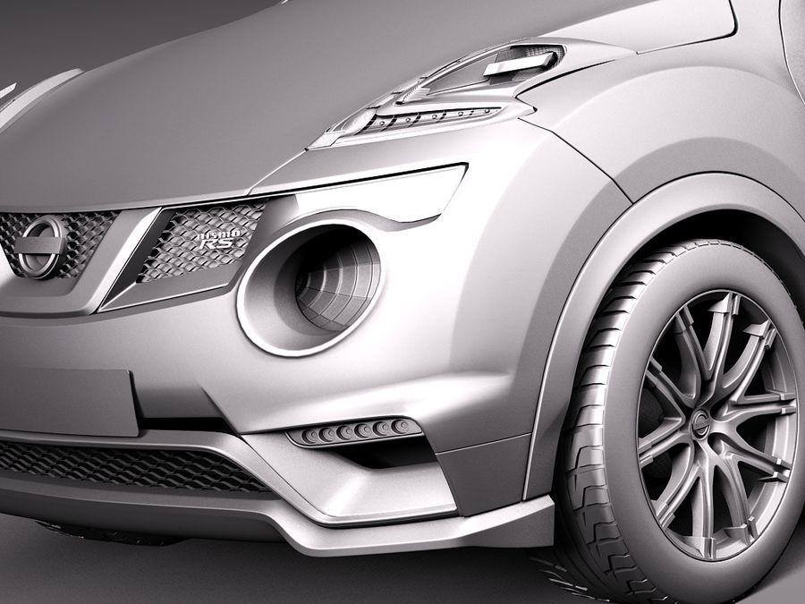Nissan Juke Nismo RS 2015 royalty-free 3d model - Preview no. 11