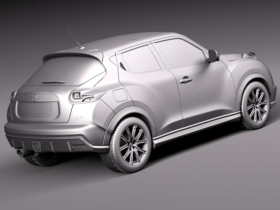 Nissan Juke Nismo RS 2015 royalty-free 3d model - Preview no. 13