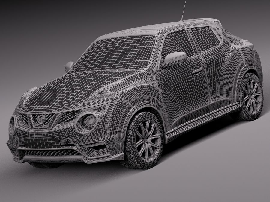 Nissan Juke Nismo RS 2015 royalty-free 3d model - Preview no. 14