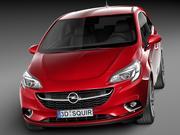 Opel Corsa 3 도어 2015 3d model