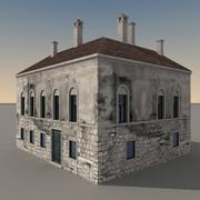 Italiaans gebouw 036 3d model