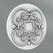 Carved rosettes 4 3d model