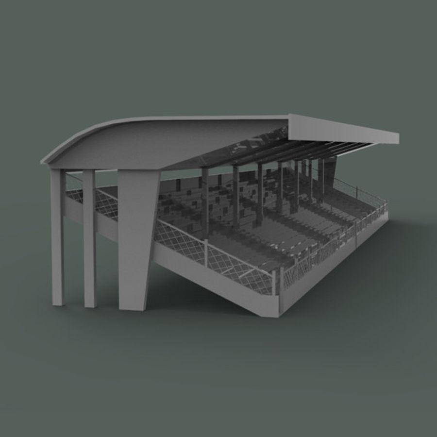 Bleachers royalty-free 3d model - Preview no. 3