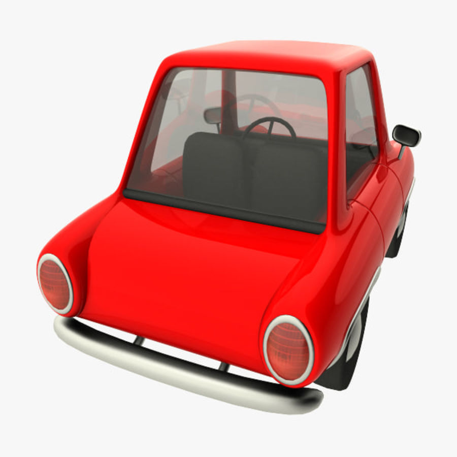 tecknade bil royalty-free 3d model - Preview no. 4