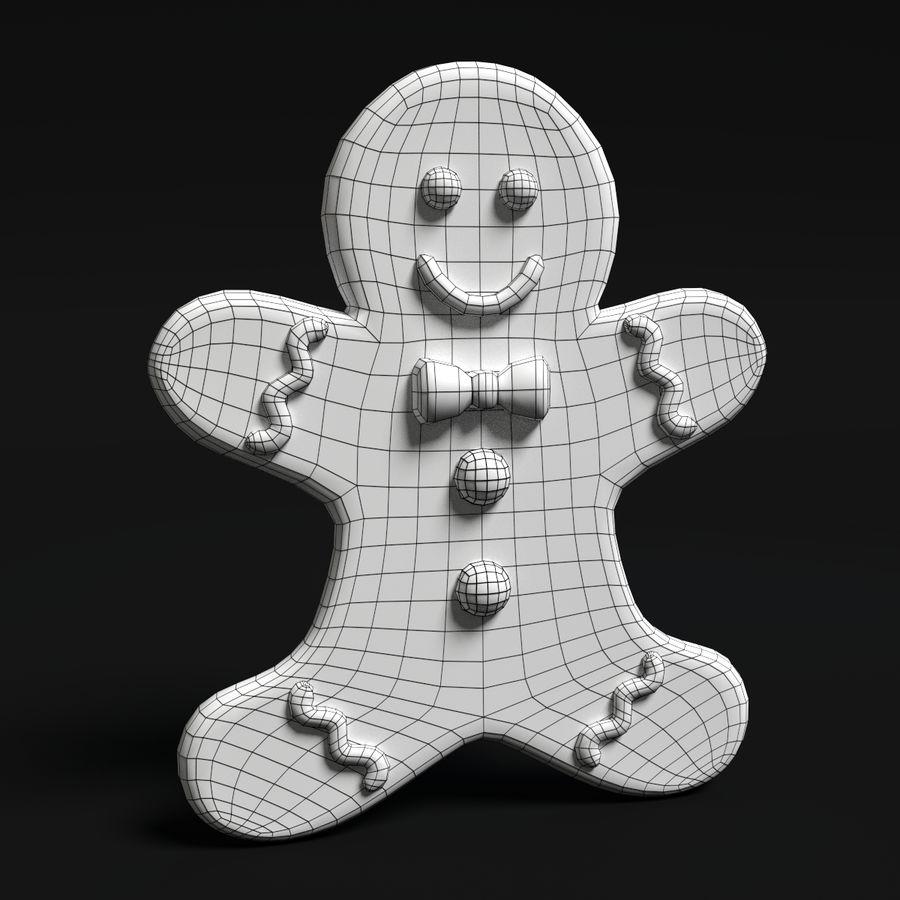 ジンジャーブレッドマン royalty-free 3d model - Preview no. 7