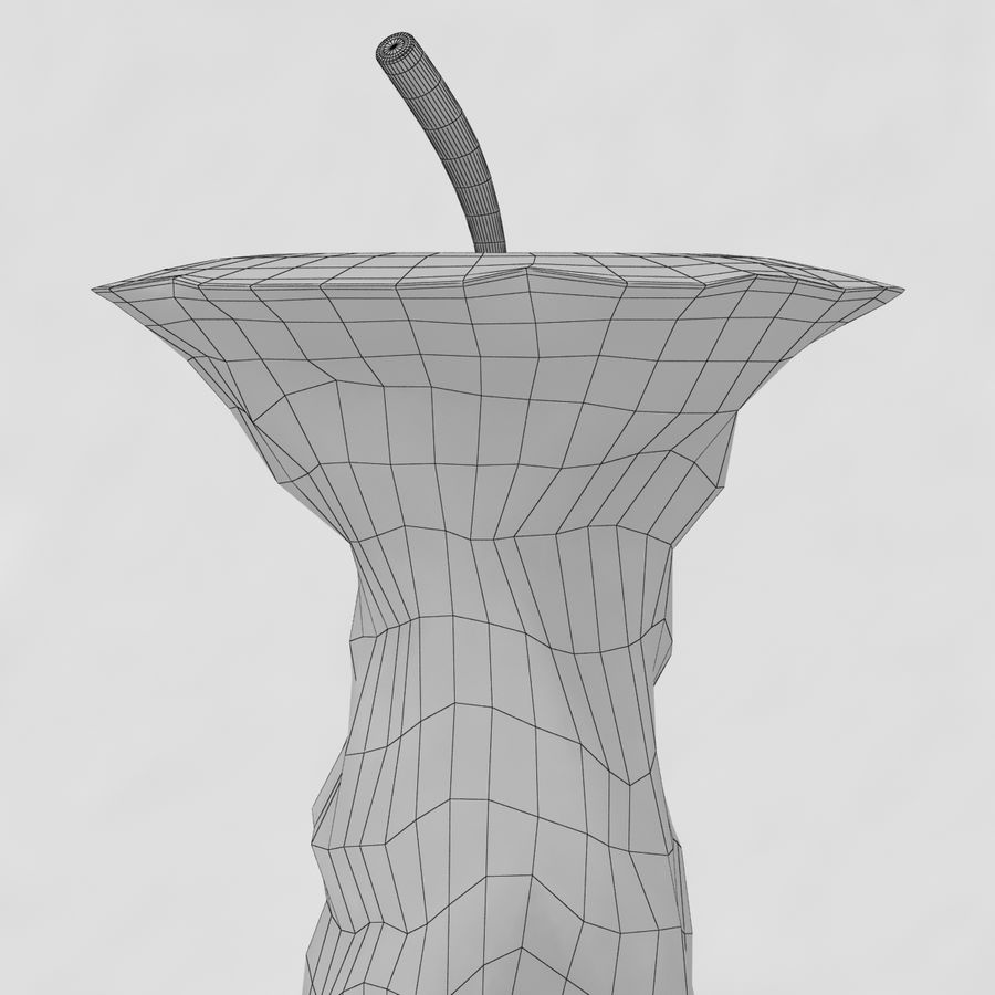 Eaten Apple royalty-free 3d model - Preview no. 9