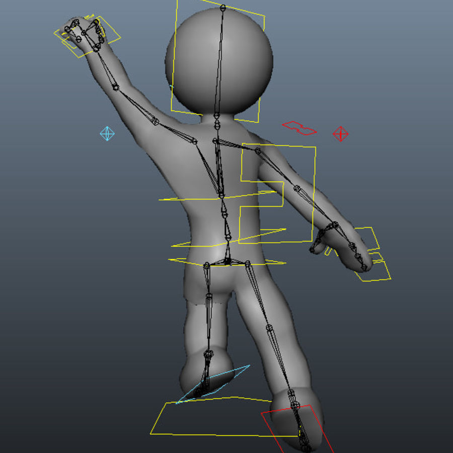 3D Simple Guy royalty-free 3d model - Preview no. 5