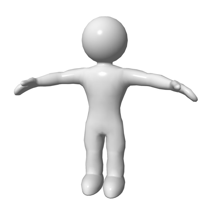 3D Simple Guy royalty-free 3d model - Preview no. 1