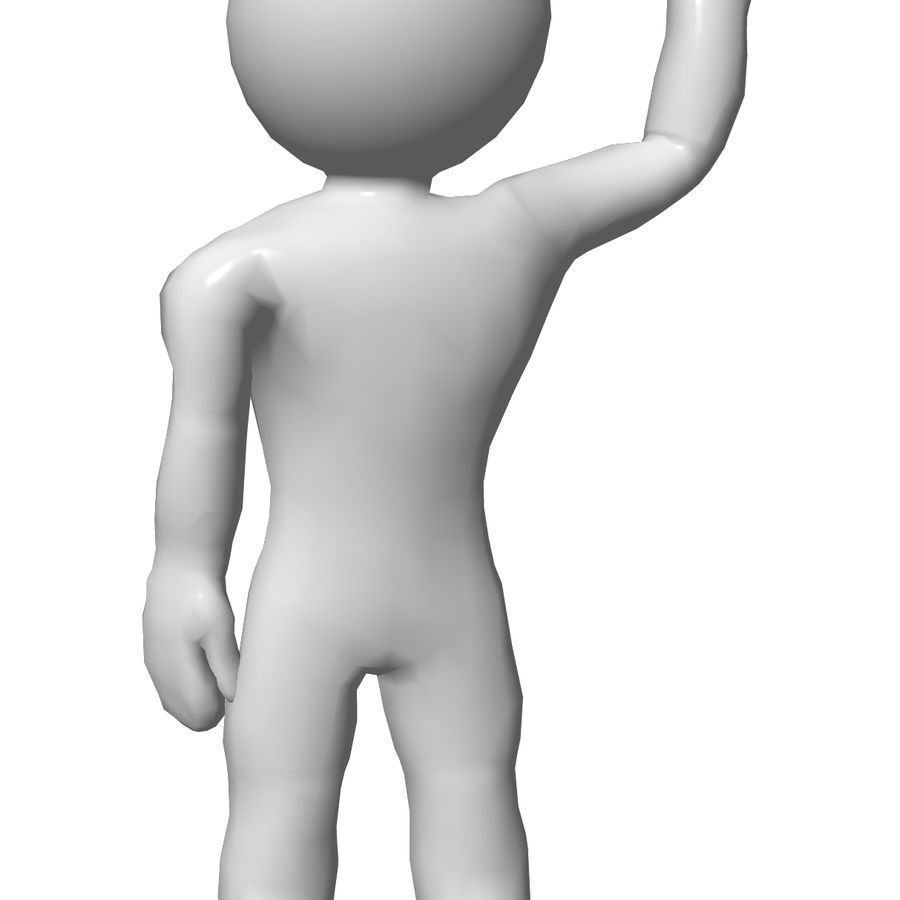 3D Simple Guy royalty-free 3d model - Preview no. 2