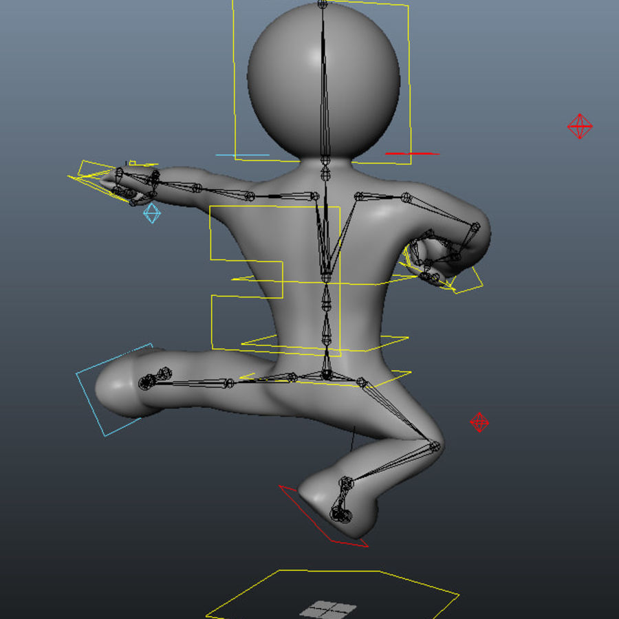 3D Simple Guy royalty-free 3d model - Preview no. 7
