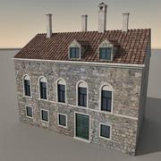 Italiaans gebouw 037 3d model