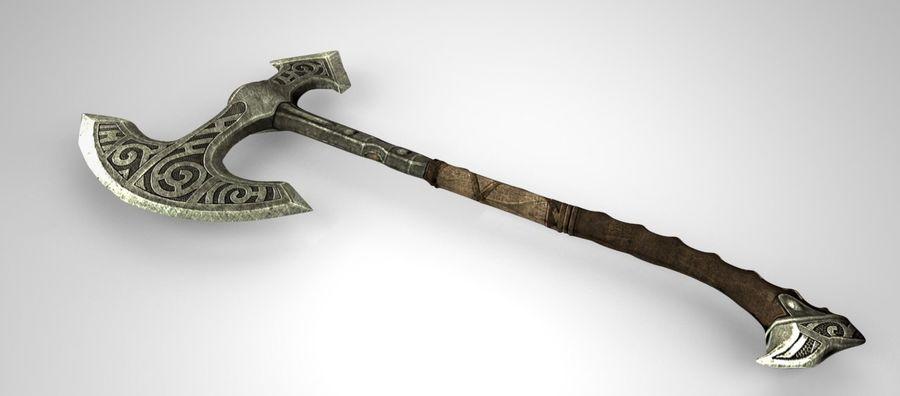Skyrim Steel war axe royalty-free 3d model - Preview no. 5