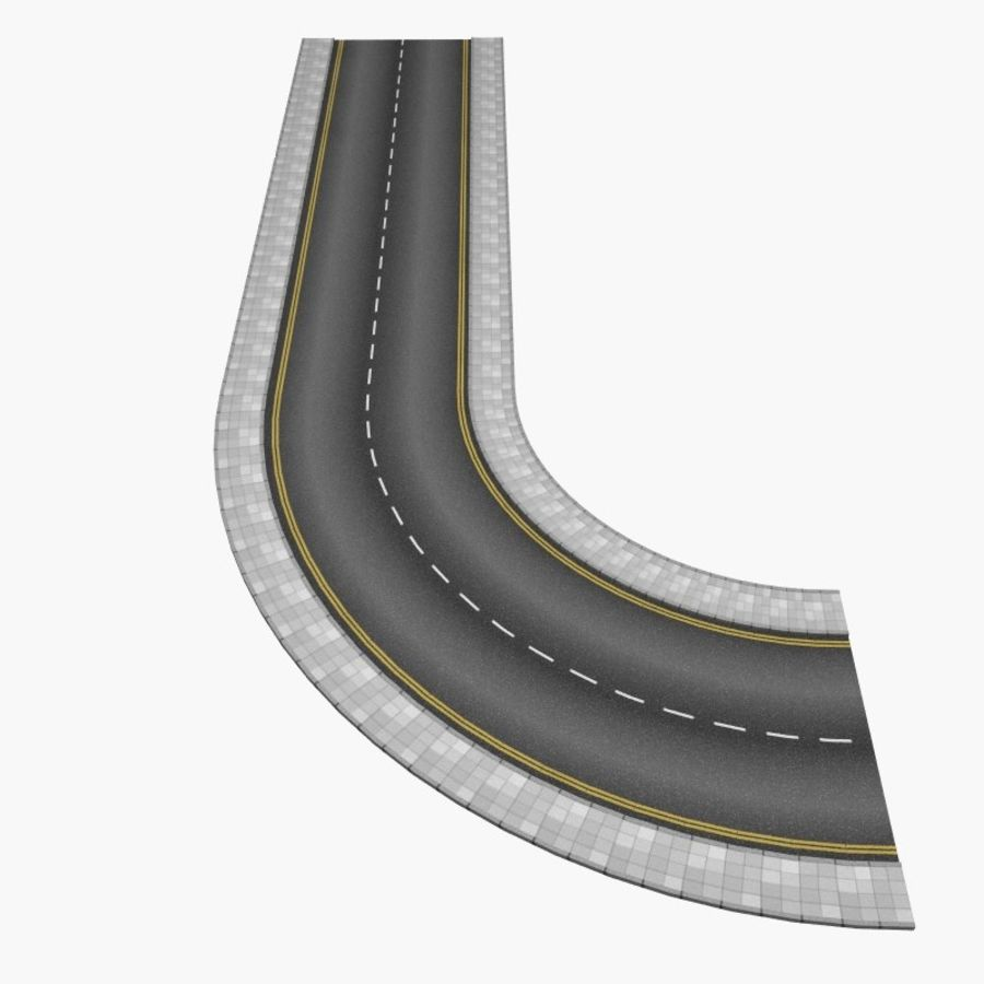 Interactive Roads royalty-free 3d model - Preview no. 6