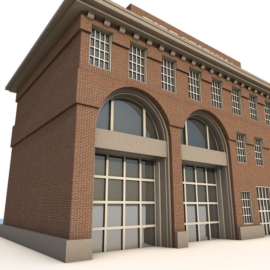 Fire Station royalty-free 3d model - Preview no. 2