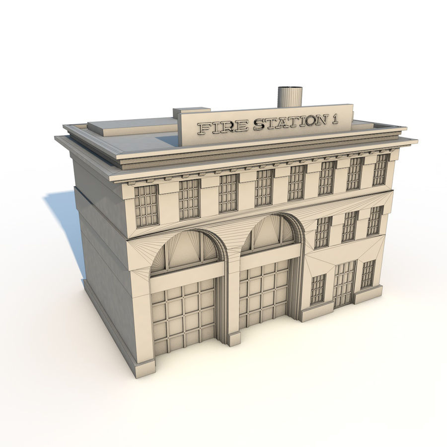 Fire Station royalty-free 3d model - Preview no. 5