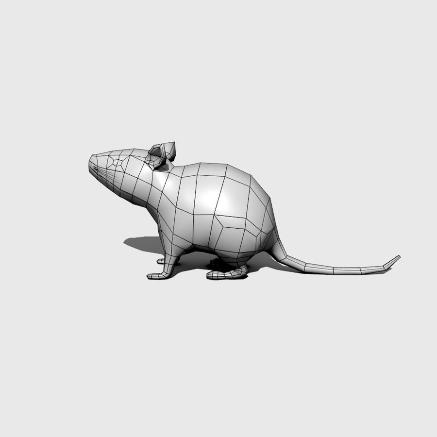 Ratte royalty-free 3d model - Preview no. 4