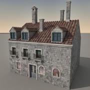 Italiaans gebouw 026 3d model