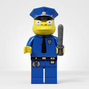 Lego Chief Clancy Wiggum 3d model