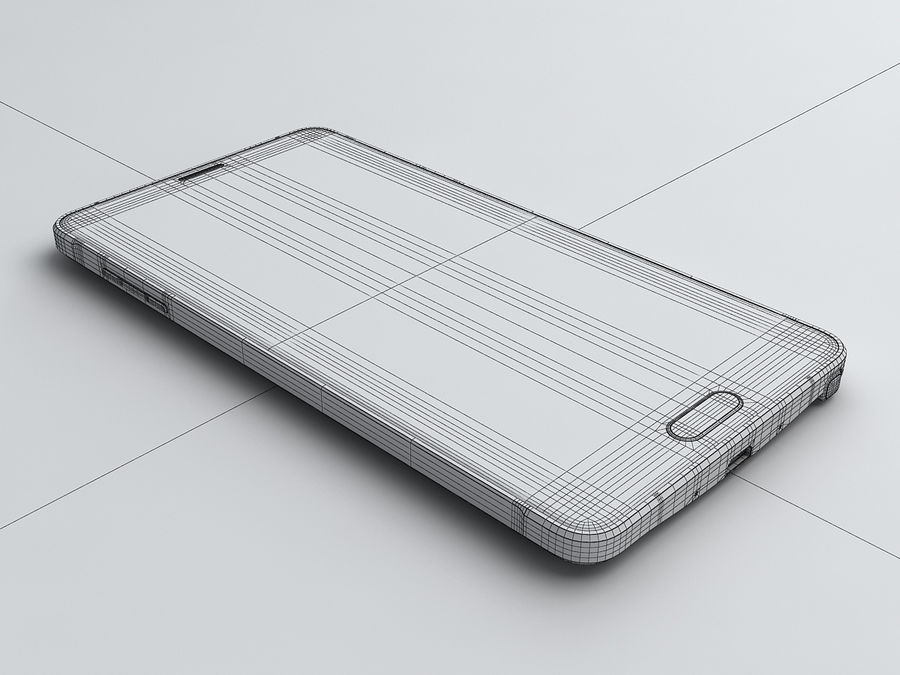 Samsung Galaxy Note 4 royalty-free 3d model - Preview no. 23