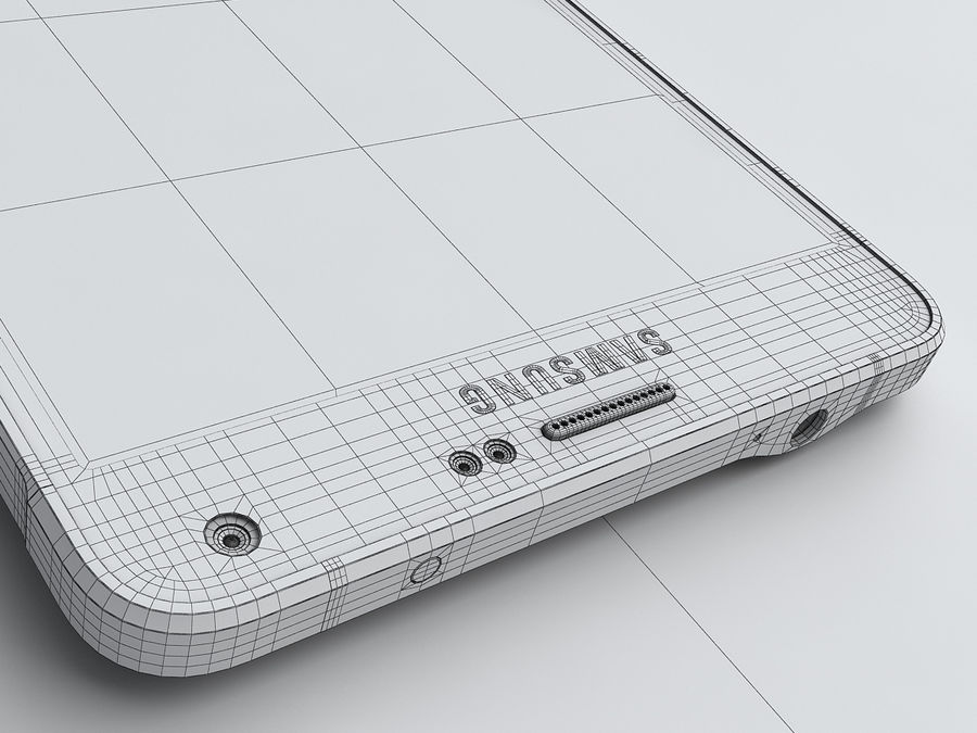 Samsung Galaxy Note 4 royalty-free 3d model - Preview no. 28