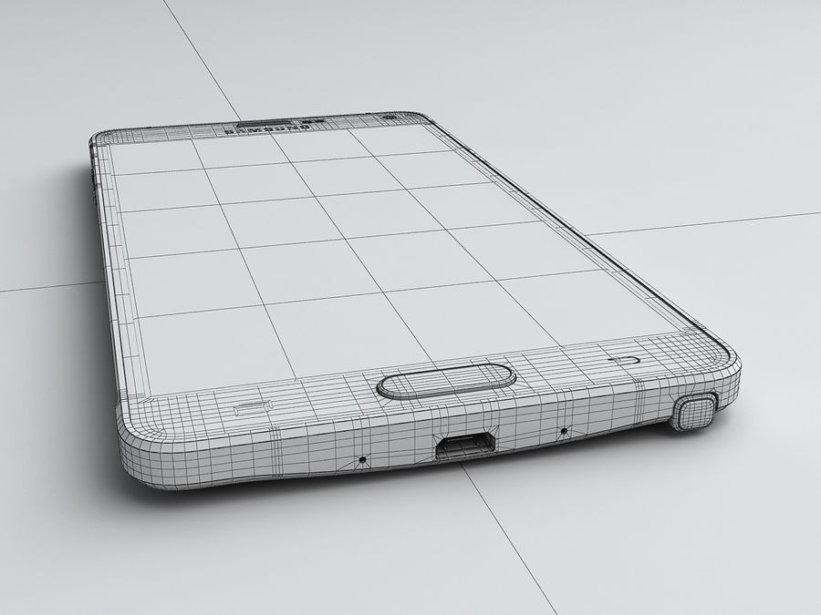 Samsung Galaxy Note 4 royalty-free 3d model - Preview no. 26