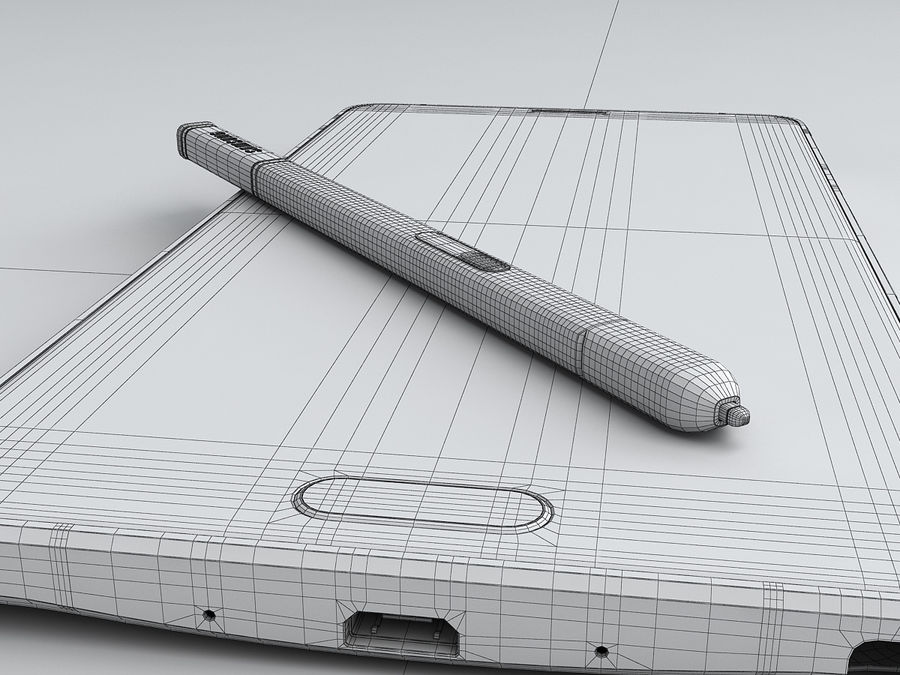 Samsung Galaxy Note 4 royalty-free 3d model - Preview no. 32