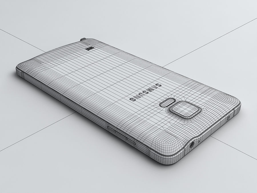 Samsung Galaxy Note 4 royalty-free 3d model - Preview no. 25
