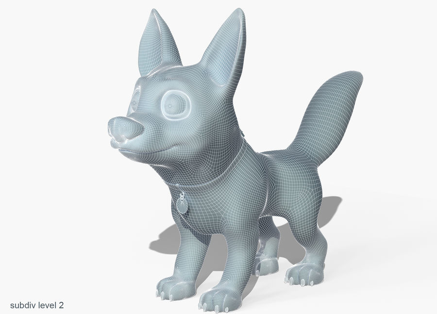 Dog Cartoon royalty-free 3d model - Preview no. 7