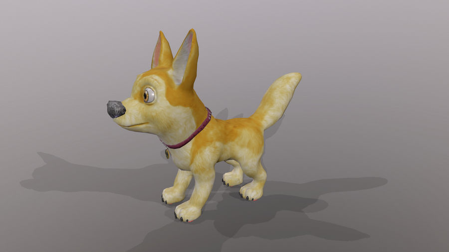 Dog Cartoon royalty-free 3d model - Preview no. 28