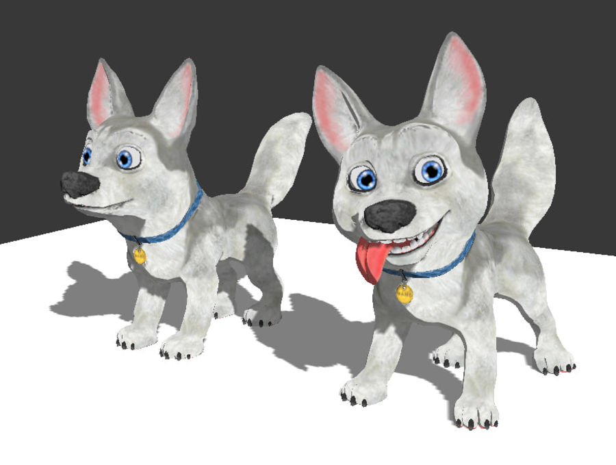 Dog Cartoon royalty-free 3d model - Preview no. 25