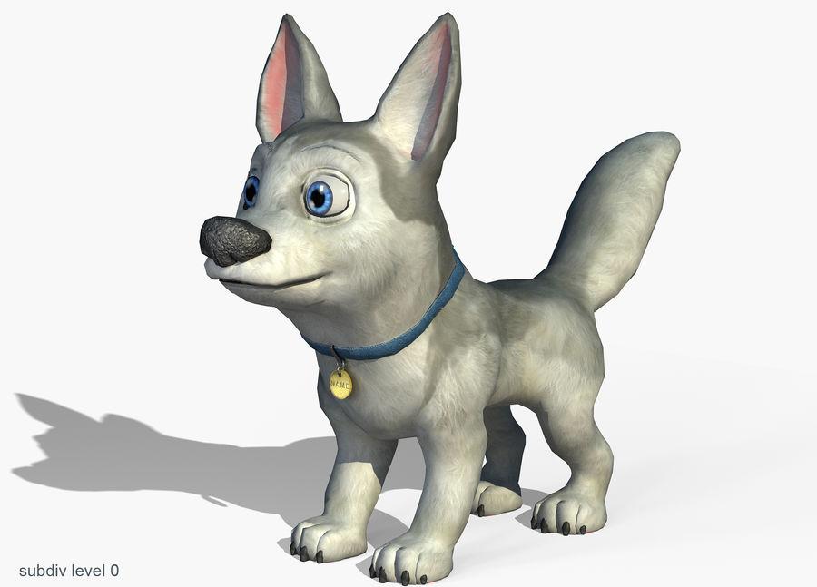 Dog Cartoon royalty-free 3d model - Preview no. 2